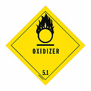 DOT LABEL,OXIDIZER,4 IN. W,4 IN. H,