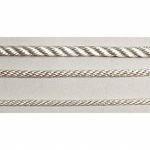ROPE,TWISTED,600 FT.,3/8 DIA,WHITE