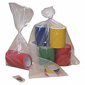 GUSSETED POLY BAG,12 IN.L,9 IN.W,PK