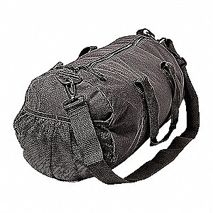DUFFEL BAG,ROUND,BLACK