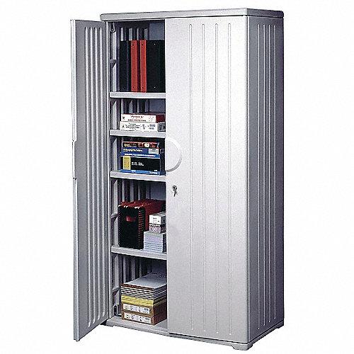 Iceberg gabinete para almacenaje platino 72 alt for Gabinete de almacenamiento dormitorio