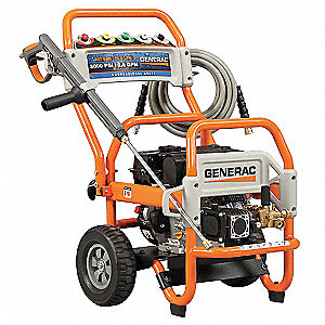 Commercial Pressure Washer, Cold Water Type, 3100 psi, 2.8 gpm