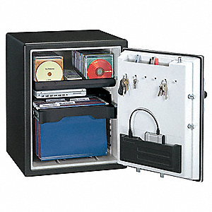 Fire Safe, Black&#x3b; Holds Documents, Records, CDs, DVDs USB Drives