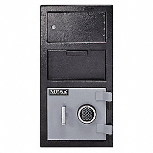 Cash Depository Safe, 1.5 cu. ft., 104 lb., Two Tone Black Gray