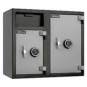 Cash Depository Safe, 6.7 cu. ft., 256 lb., Two Tone Black Gray