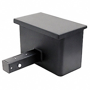 "12-1/2"" x 6"" x 8-1/8"" Hitch Vault Safe, Textured Black&#x3b; Holds Valuables, Keys, Wallets, Medication,"