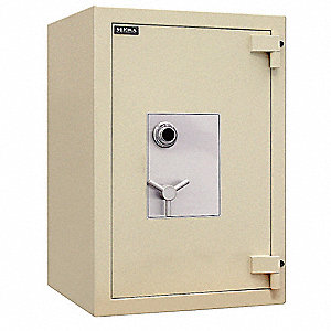 "31"" x 29-1/2"" x 42"" Fire Safe Jewelers Vault, Tan&#x3b; Holds Documents, Weapons, Valuables, Jewelry, Bul"