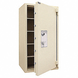 "43"" x 32-1/2"" x 79"" Fire Safe Jewelers Vault, Tan&#x3b; Holds Documents, Weapons, Valuables, Jewelry, Bul"