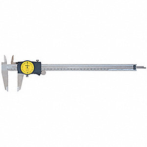 0-300mm Range Stainless Steel Metric Dial Caliper with 0.02mm Graduations