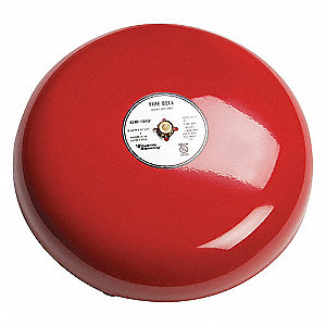 Fire Bell, Red, 10 In.