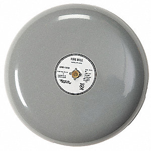 Fire Bell,Gray,10 In.,20 to 24V