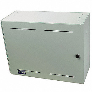 Battery Cabinet,Gray,Height 14 In.