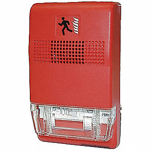 EDWARDS SIGNALING Strobe,Marked Fire,Red - 16X358|EG1RF-VM - Grainger