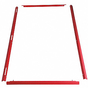 Fire Panel Trim,10 Zone,Red