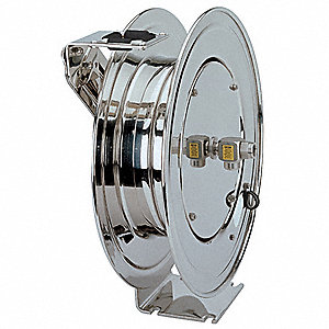"3/4"", 25 ft. Spring Return Hose Reel, 300 psi Max. Pressure"