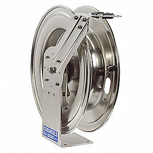 "1/2"", 50 ft. Spring Return Hose Reel, 2500 psi Max. Pressure"