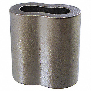 Wire Rope Sleeve,5/32 In,122 Copper