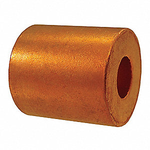 Wire Rope Stop Sleeve,5/32 In,122 Copper