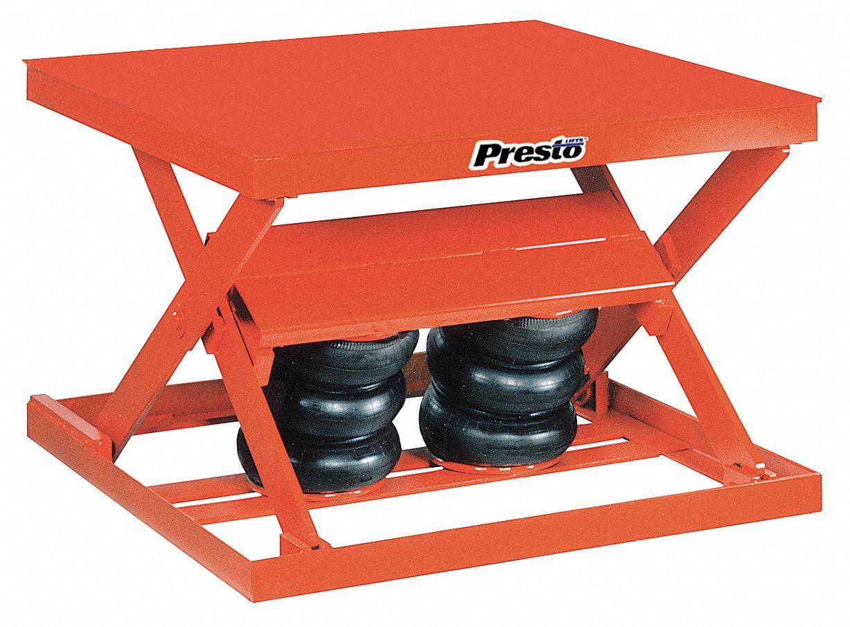 Presto Lift Tables : Scissor lift tables tools for shop