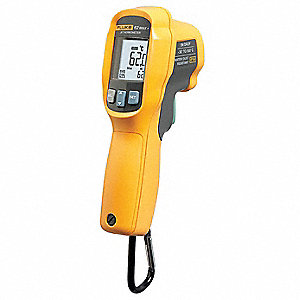 Infrared Thermometer, -20° to 1202°F Temp. Range (F), Includes: Carabiner and Manual