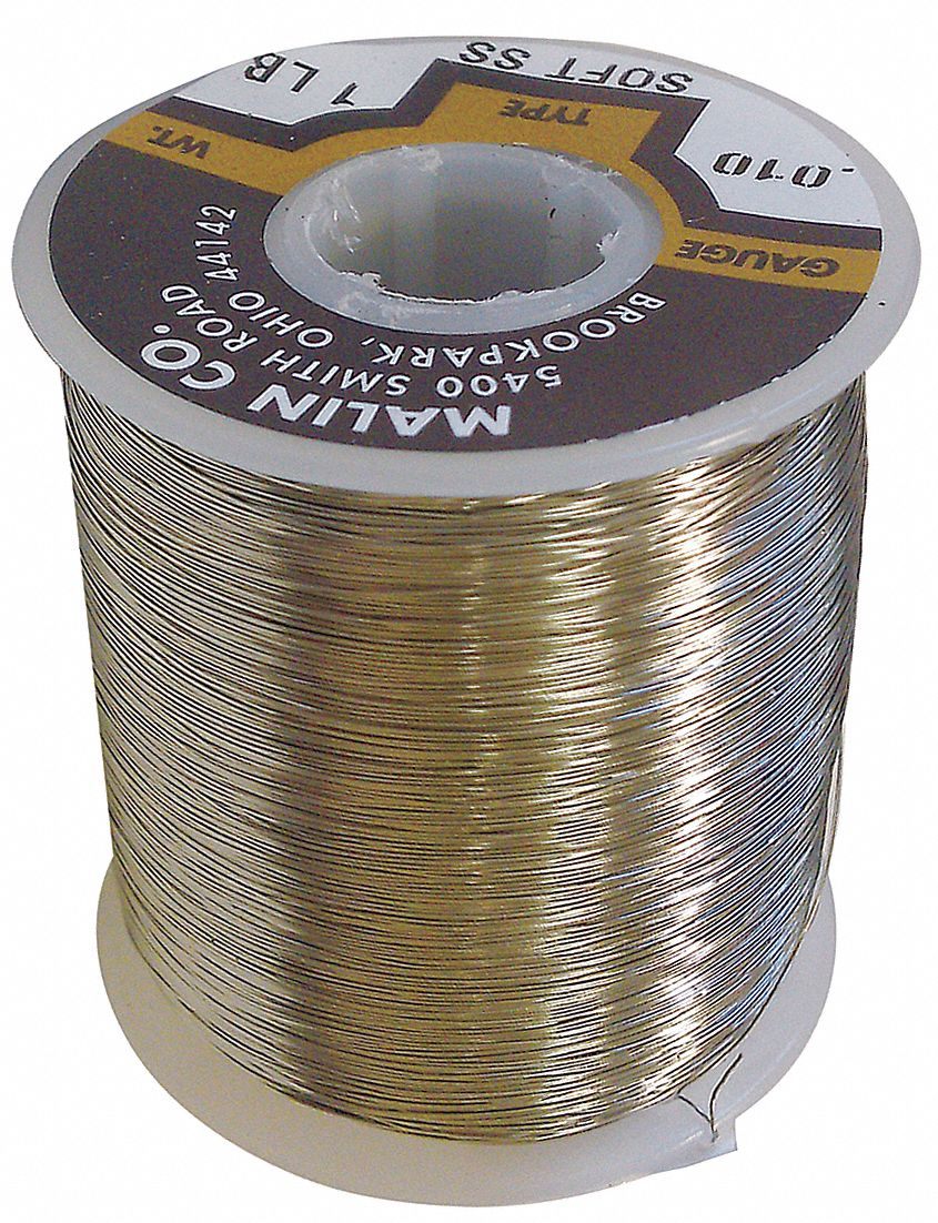 Baling Wire,  16 ga,  Black Annealed Wire,  0.0625 in Diameter,  96 ft Length