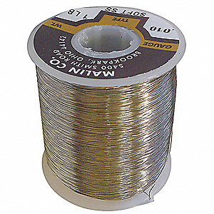 Lockwire,  Stainless Steel,  0.041 in Diameter,  55.25 ft Length