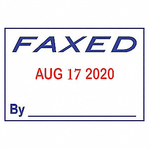 MESSAGE DATE STAMP,4 BANDS, FAXED