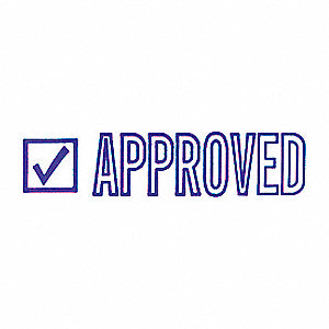 MICROBAN MESSAGE STAMP, APPROVED, 3