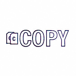 MICROBAN MESSAGE STAMP, COPY, 3/8IN
