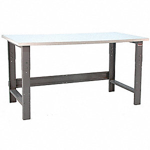 "Ergonomic Workbench, 72"" Length, 36"" Width, Formica  Plastic Laminate  Pull-Pin"
