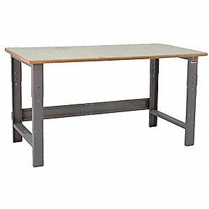 "Ergonomic Workbench, 72"" Length, 36"" Width, High Density Particle Board  Pull-Pin"