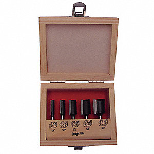 5-PC Carbide Tipped Router Bit Set