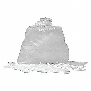 TOTE LINER,38 GAL., CLEAR,LDPE,PK10