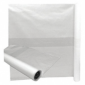 TOTE LINER,46 GAL., CLEAR,LDPE,PK 2