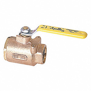 BALL VALVE,1/2 IN SAE,BRONZE,600 PS