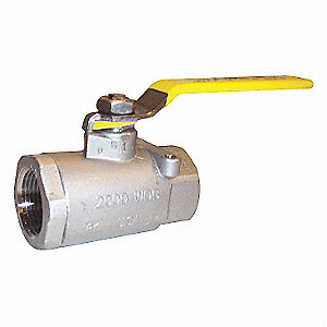 BALL VALVE,2 PC,2 IN NPT,SS,1500 PS