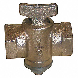 GAS COCK,1 IN,FNPT,125 PSI,BRONZE