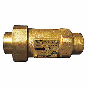 DUAL CHECK VALVE,3/4 IN,FNPT,BRONZE