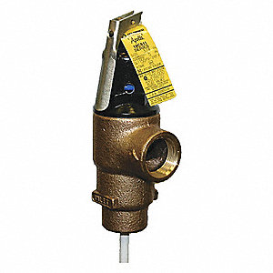 T+P RELIEF VALVE,1 1/4X1IN INLET,12