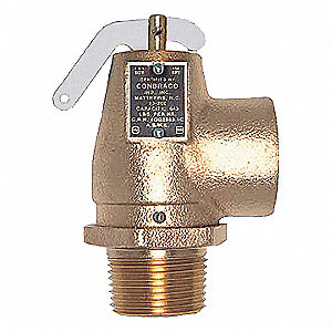 SAFETY RELIEF VALVE,1 X 1 IN,10 PSI