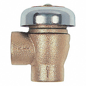 VACUUM BREAKER,1 1/2 IN,NPT,BRONZE