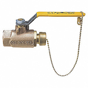 BALL VALVE,2 PC,3/4 IN,BRONZE,FNPTX