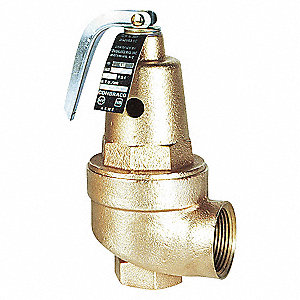 SAFETY RELIEF VALVE,1 1/2 IN,BRONZE