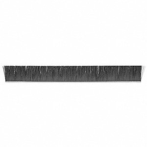 Strip Brush,3/16W,84 In L,Trim 3 In,PK10