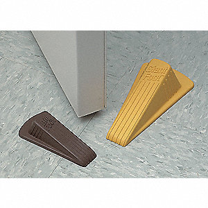 DOOR STOP,YELLOW,1.25X2X4.5IN