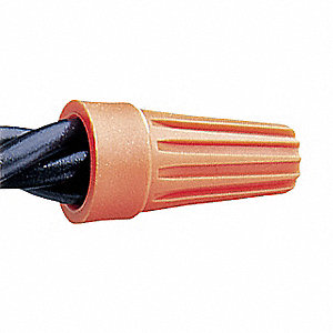 WIRE CONNECTOR,WIRETWIST,ORANGE,PK