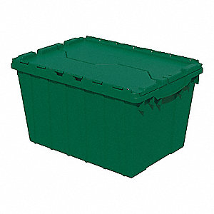 "Attached Lid Container, 1.62 cu. ft. Volume Capacity, 21-1/2"" Outside Length, 15"" Outside Width"
