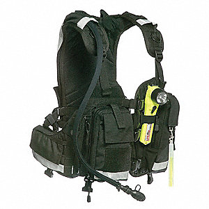 Black Hydration Pack and Harness, 102 oz. Capacity