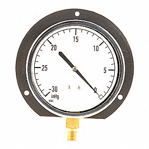 VACUUM GAUGE,4 1/2IN,30IN HG VAC TO