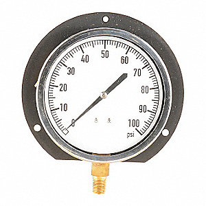 Pressure Gauge,Mechanical Cont,4-1/2 In